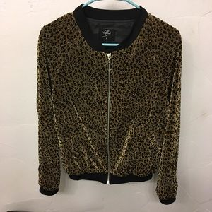 Authentic Valfre Gold Leopard Bomber Jacket